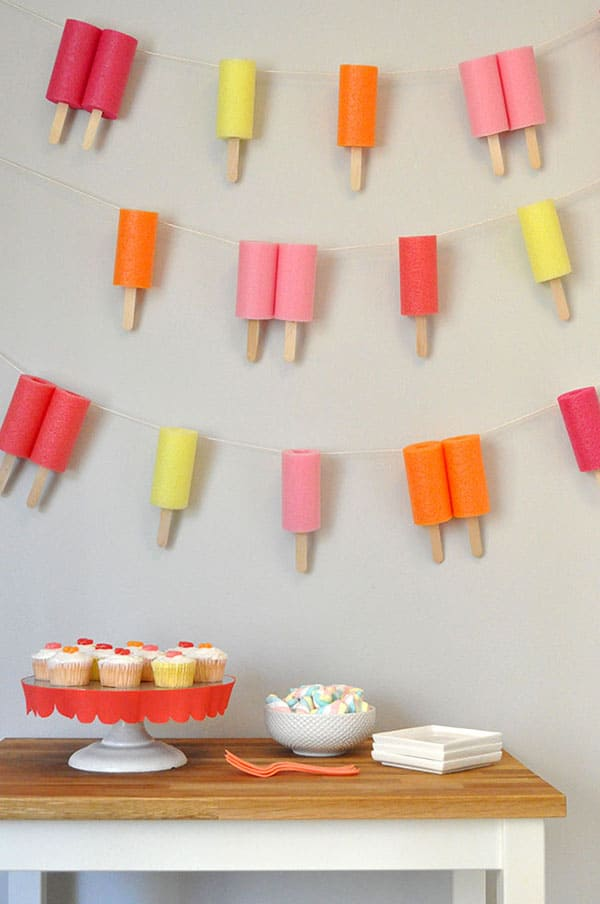 Jumbo foam popsicle garland