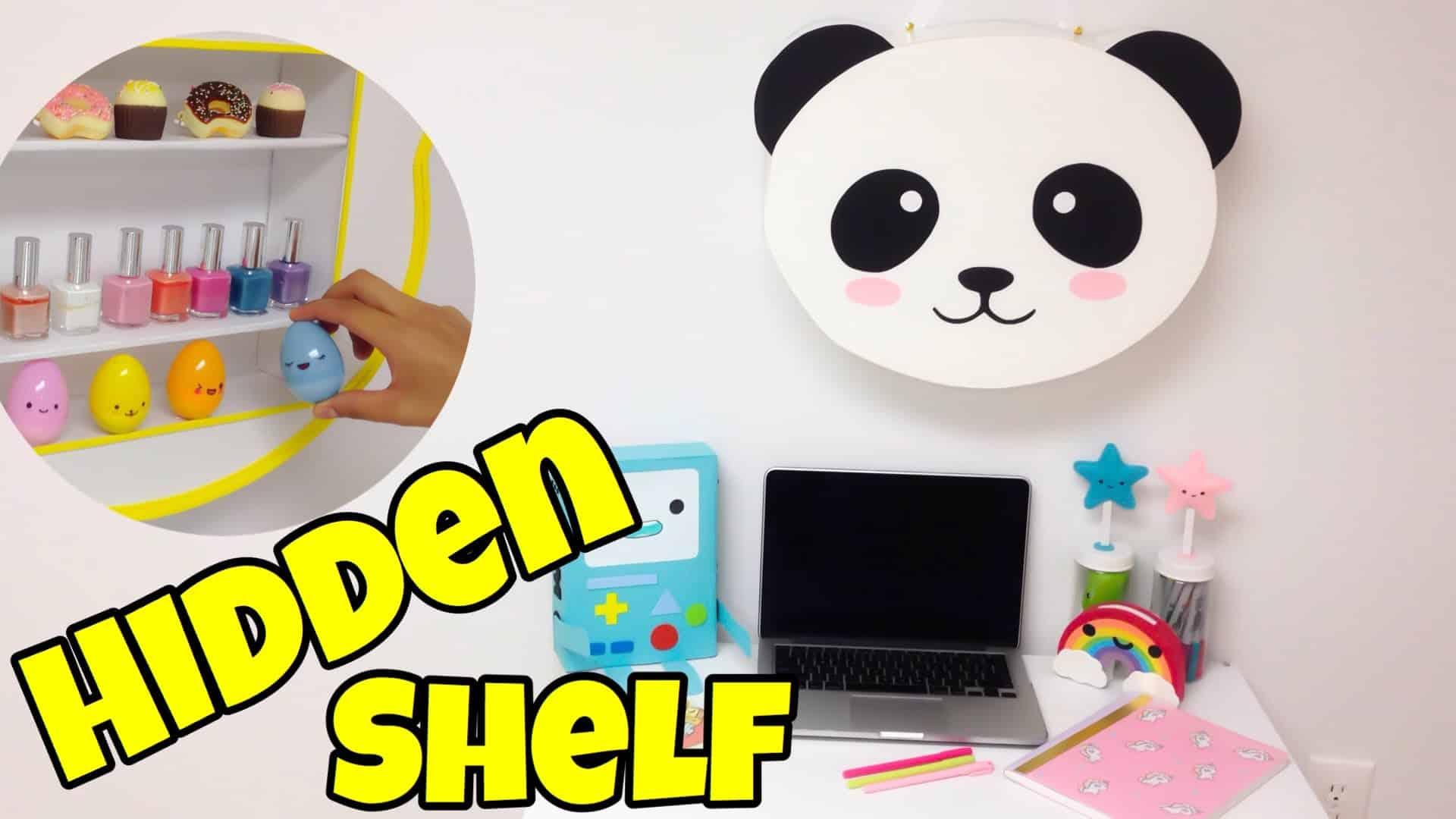 Kawaii panda hidden shelf