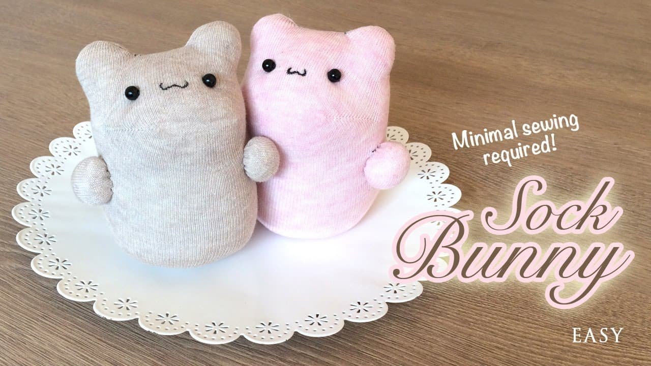 Kawaii sock bunny project
