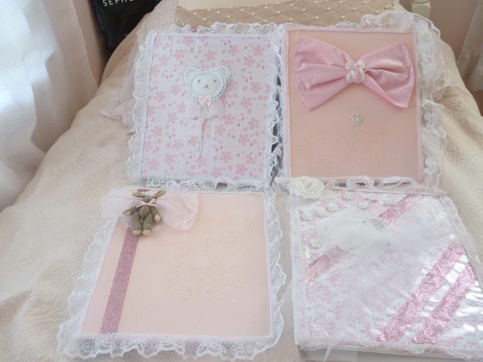 Lacy kawaii school notebooks