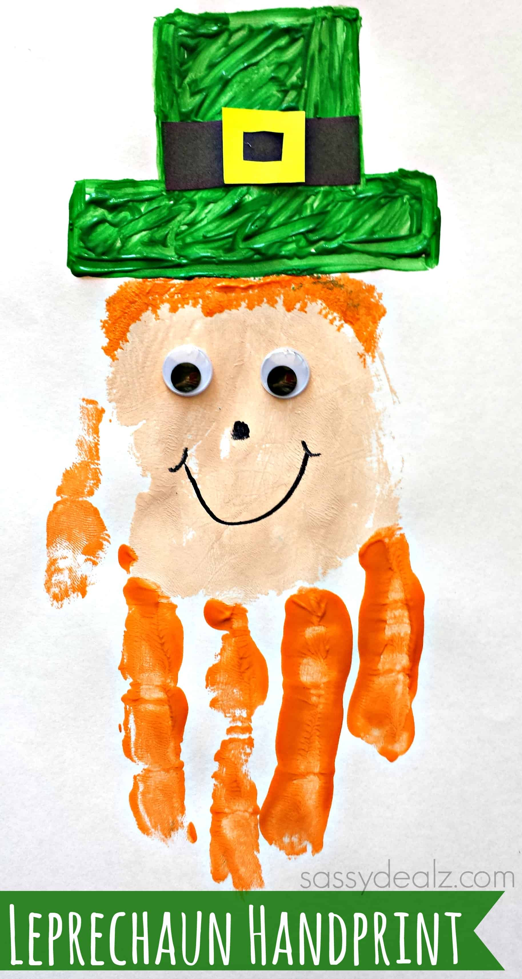 Leprechaun handprint painting