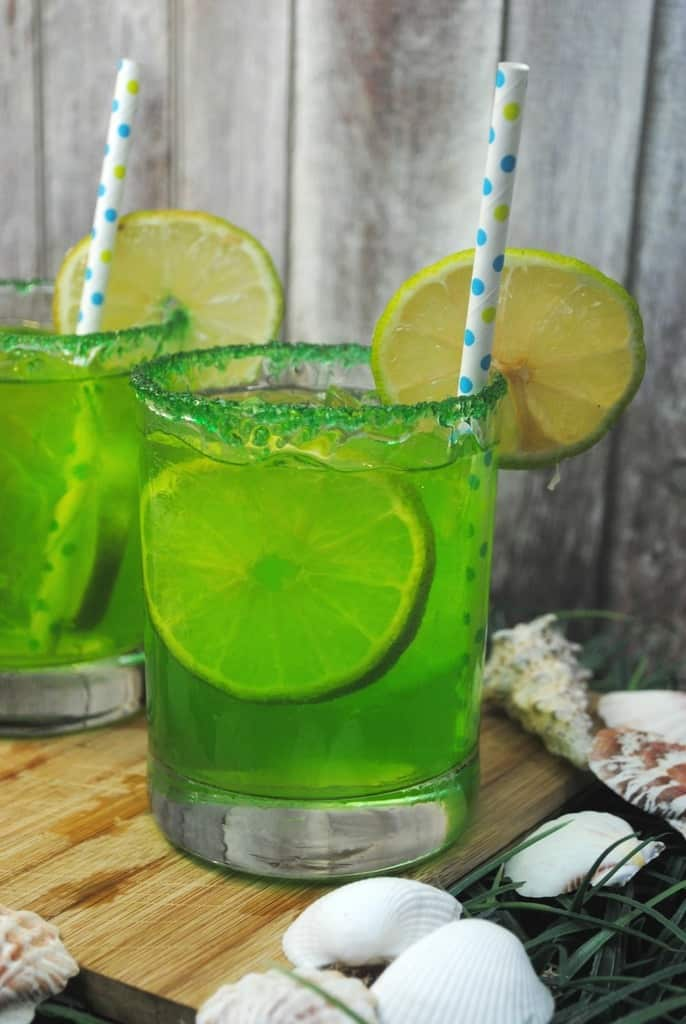 Mermaid punch mocktail