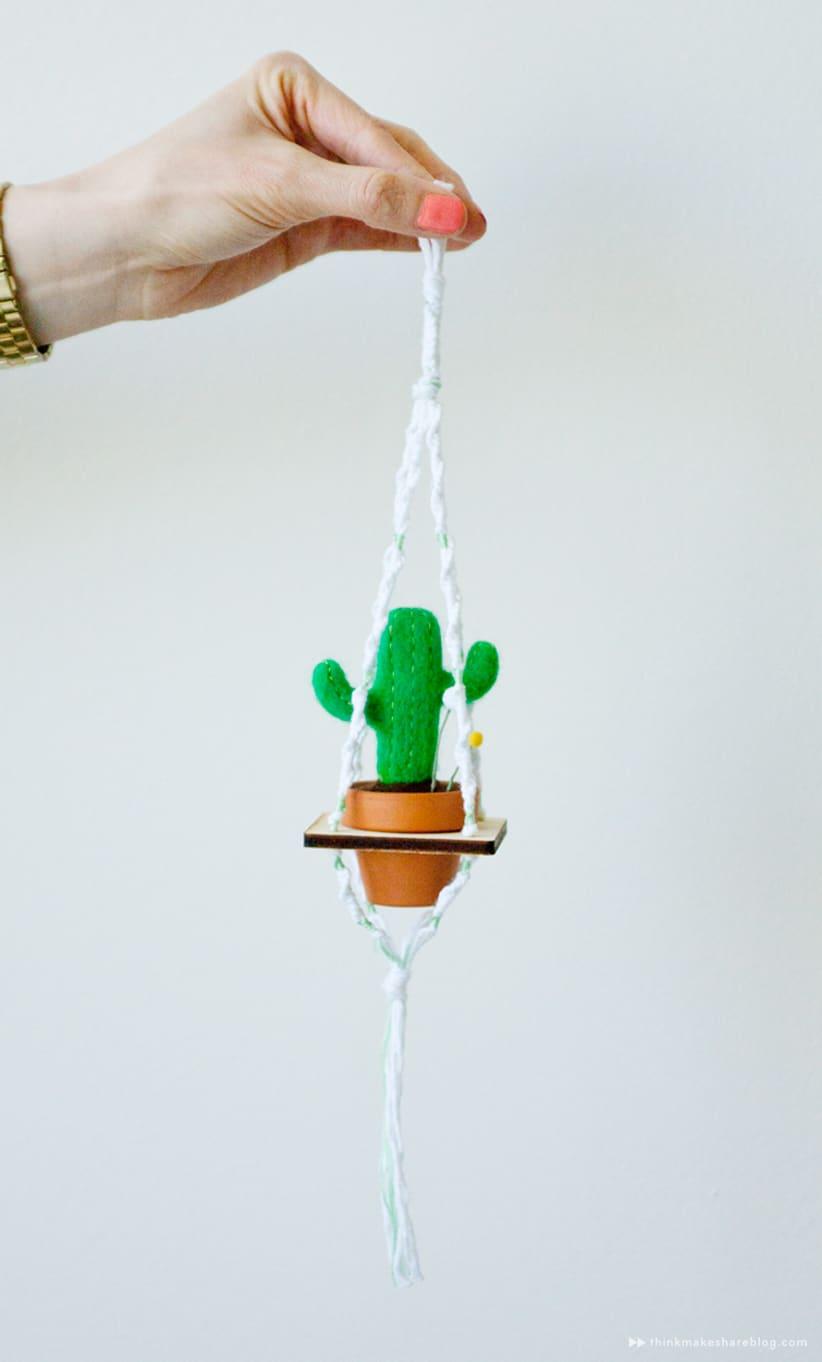 Miniature felted succulents