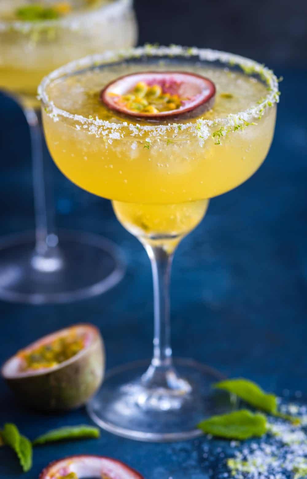 Passionfruit champagne margarita