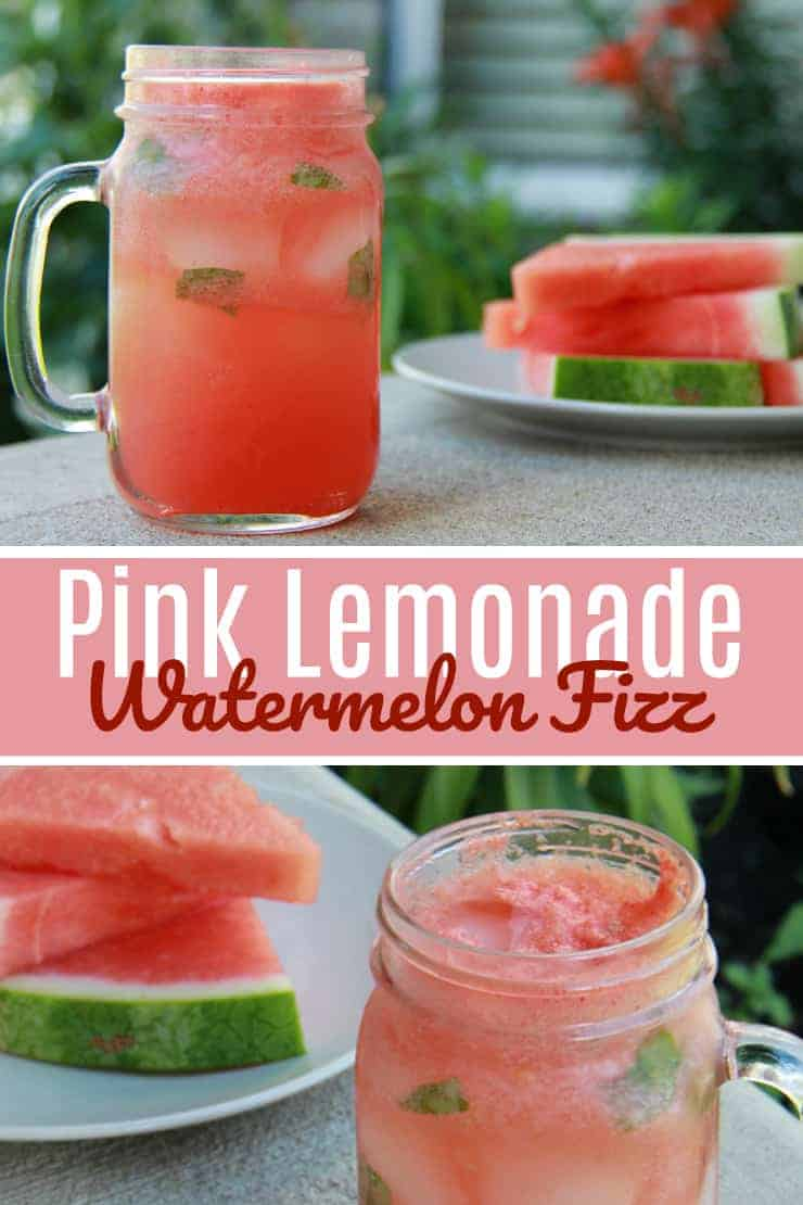 Pink lemonade and watermelon fizz