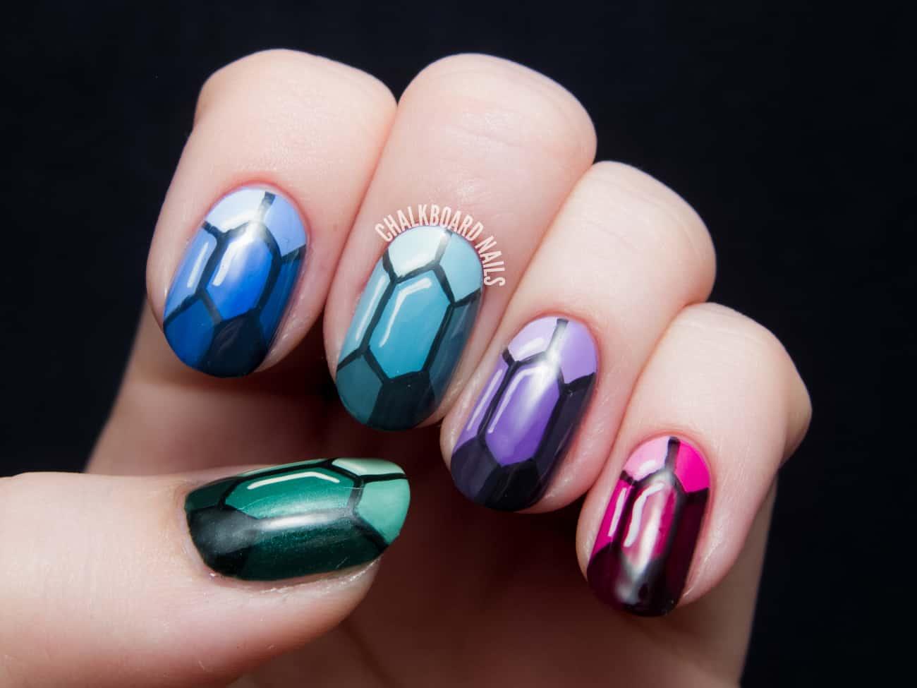 Precious gem nail art