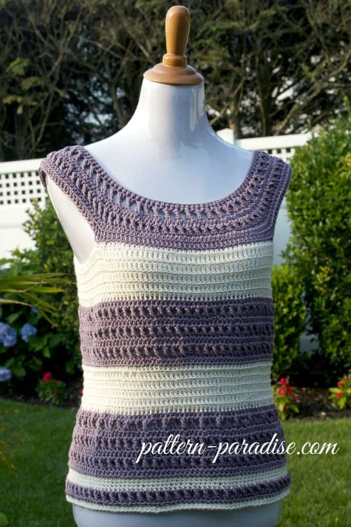 Pretty striped garden tank top