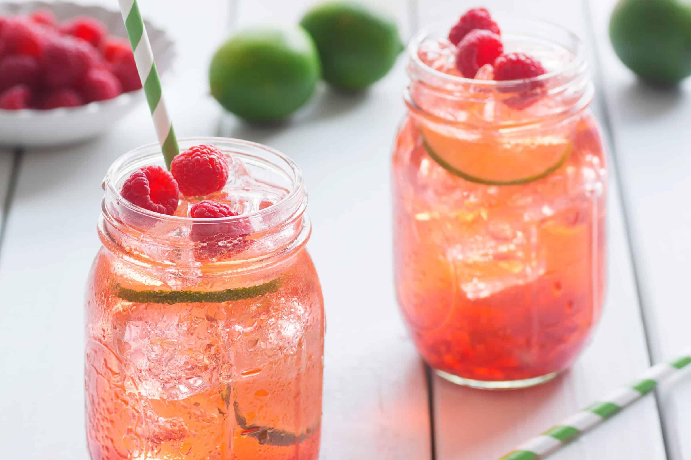 Raspberry ice tea