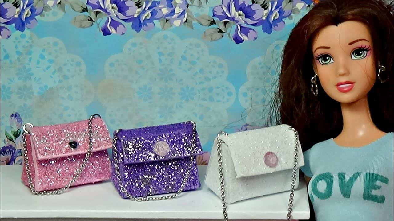 Sparkly doll purses