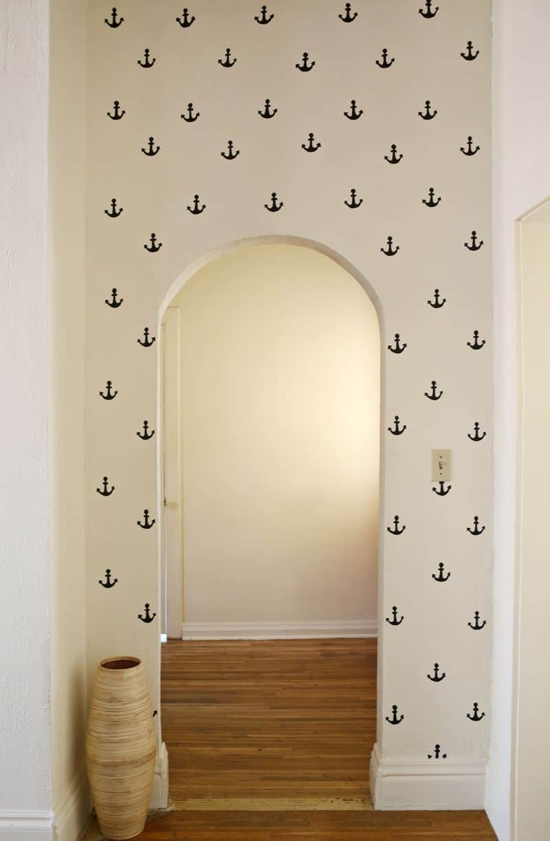 Stamped anchor archway wall