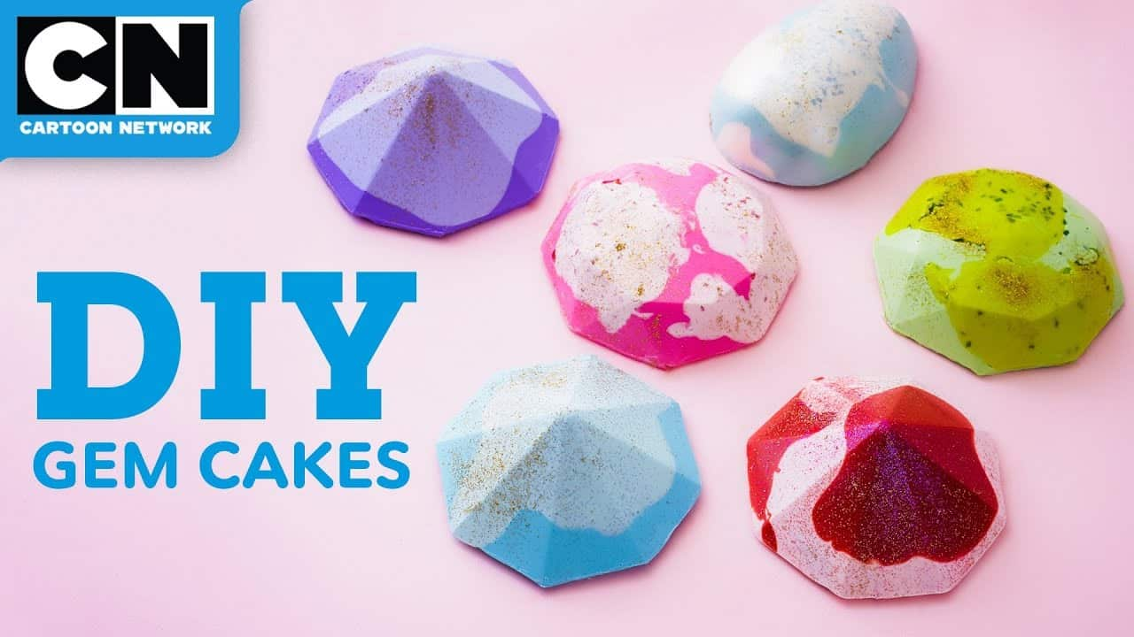 Steven universe inspired mini gem cakes