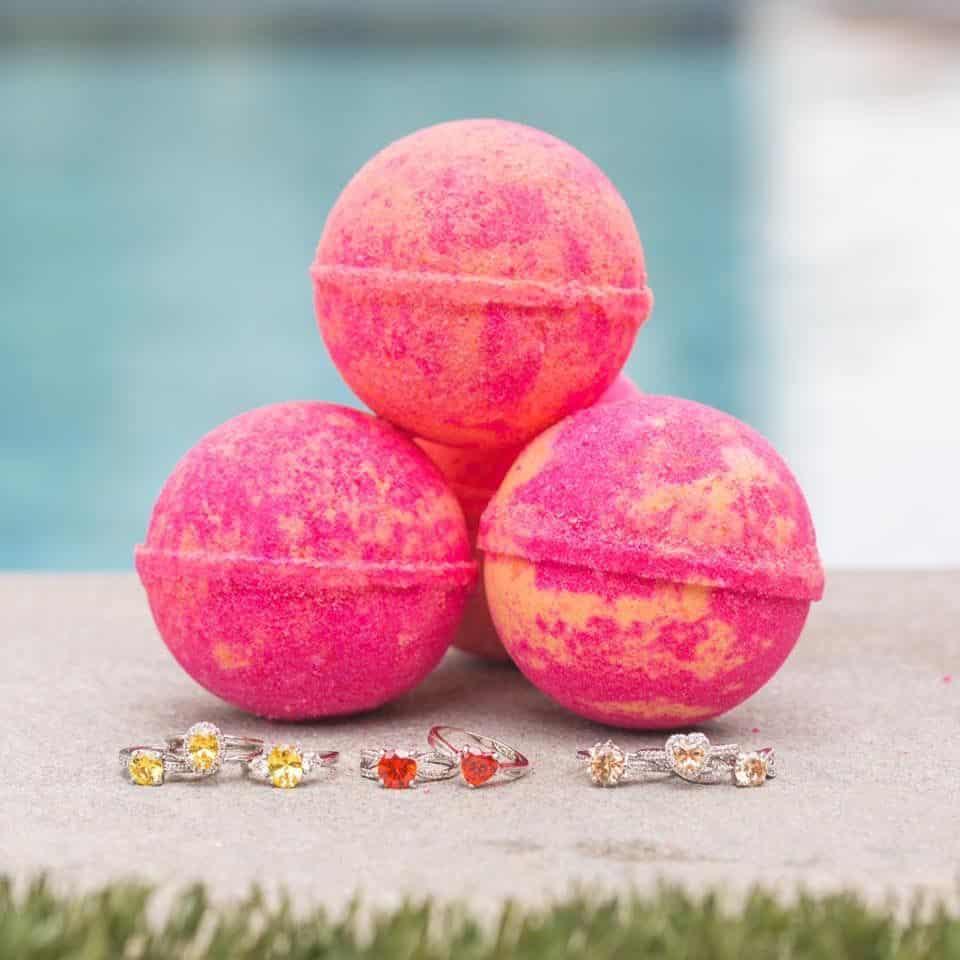 Summer sunset bath bombs