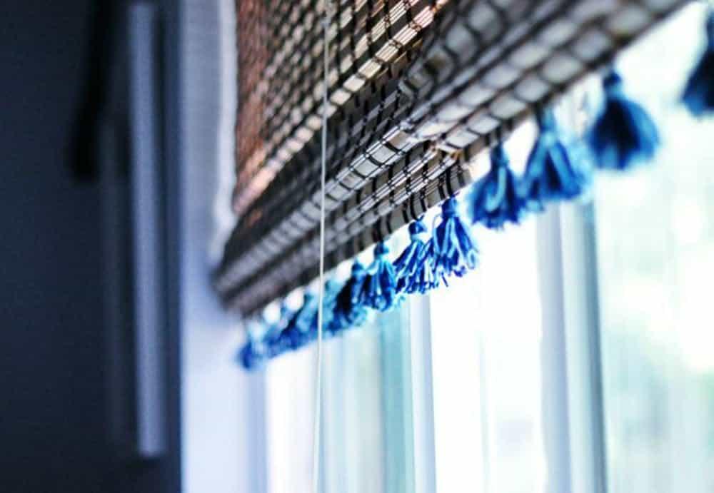 Tasseled bamboo shades