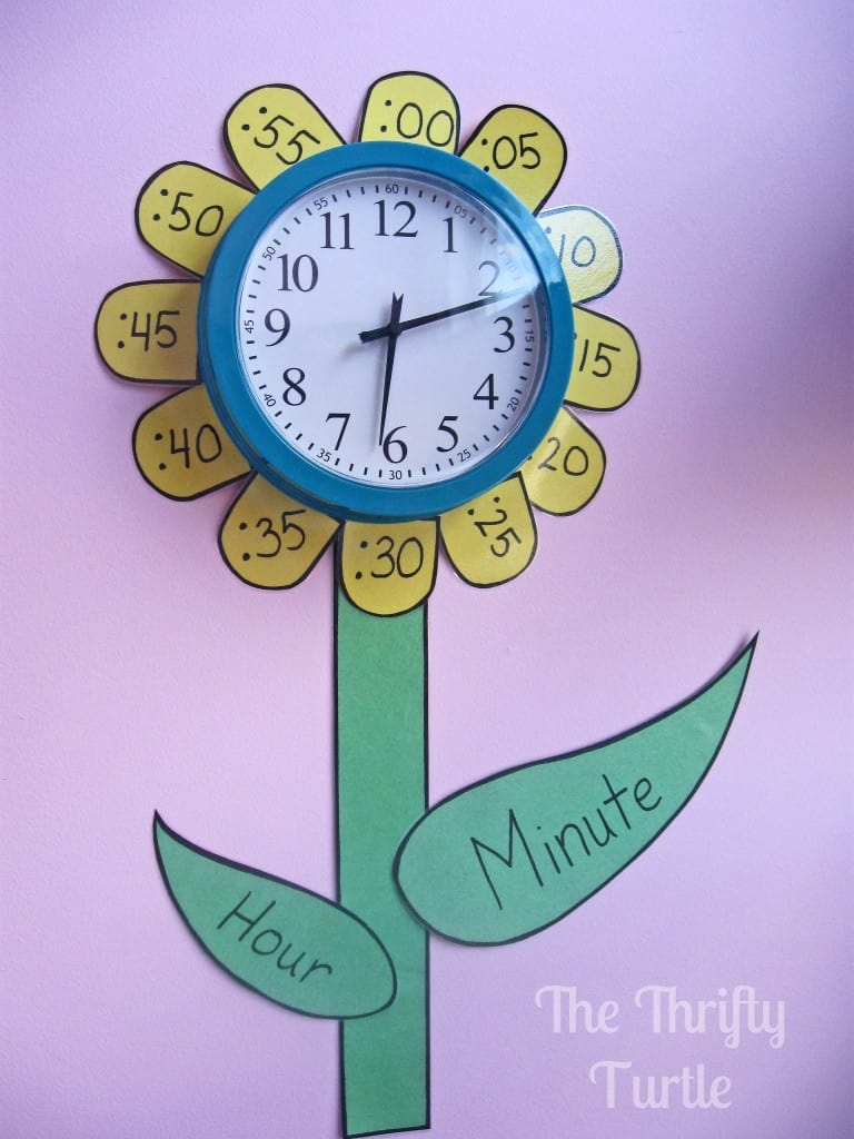 Teaching time to kids diy flower