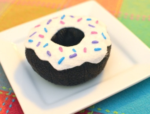 Toy donuts from old socks