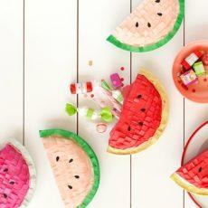 Watermelon mini pinatas