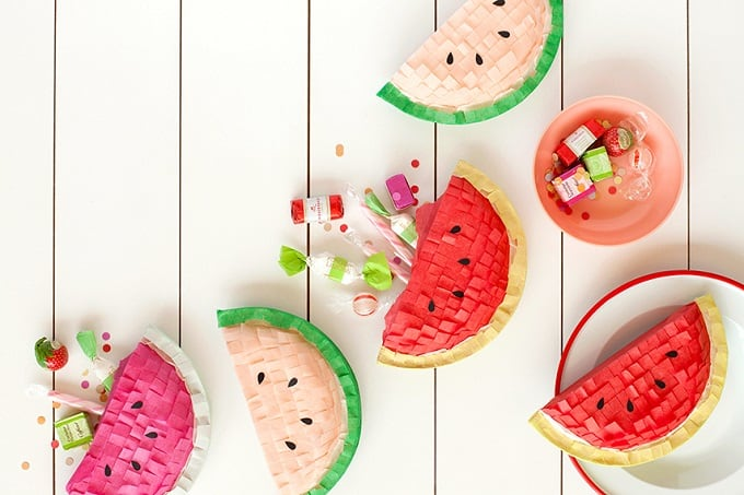 Watermelon mini pinatas