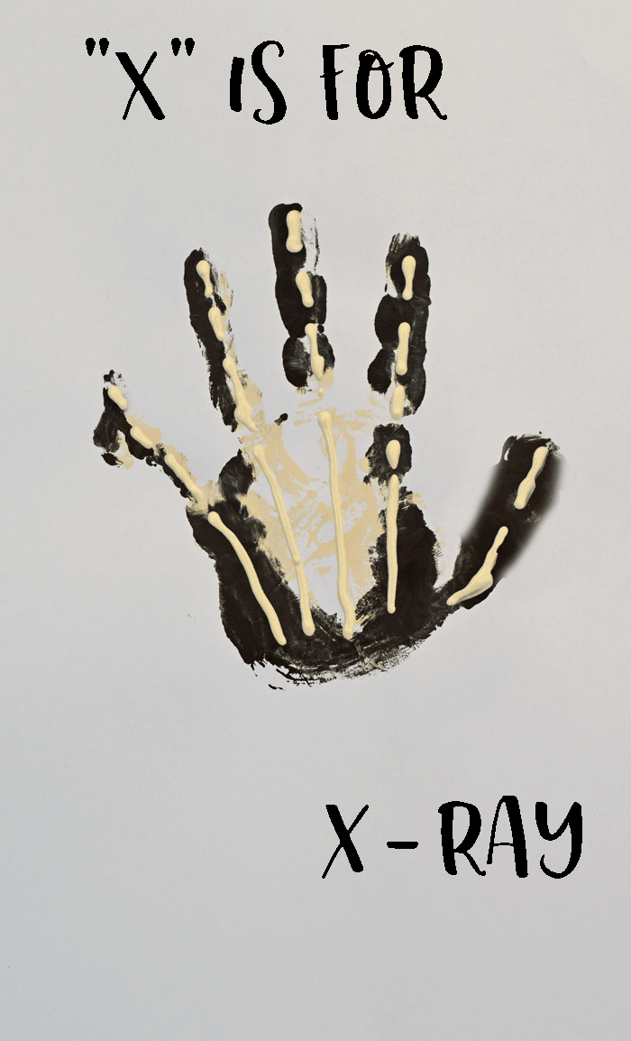 X ray letter painting