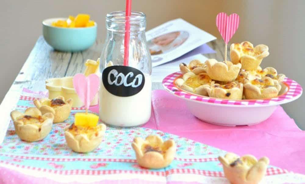 Coconut milk and mango custard pie