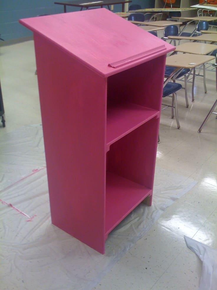 Diy pink podium