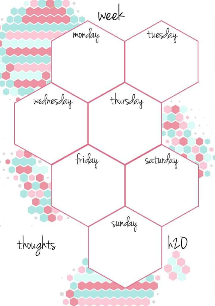 Honeycomb weekly printable