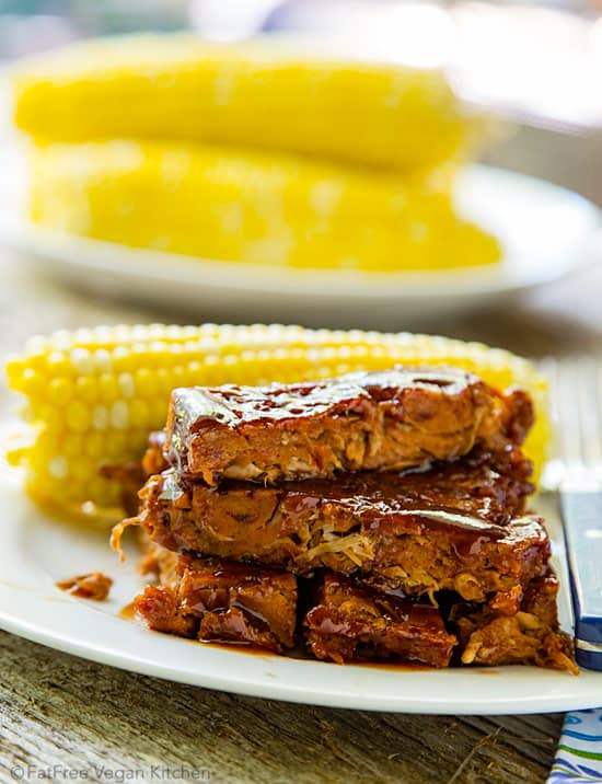 Jackfruit vegan ribs