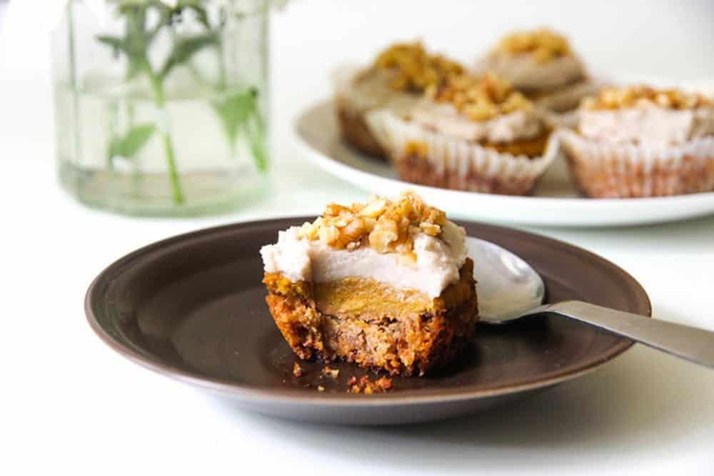 Small sugar free pumpkin pies
