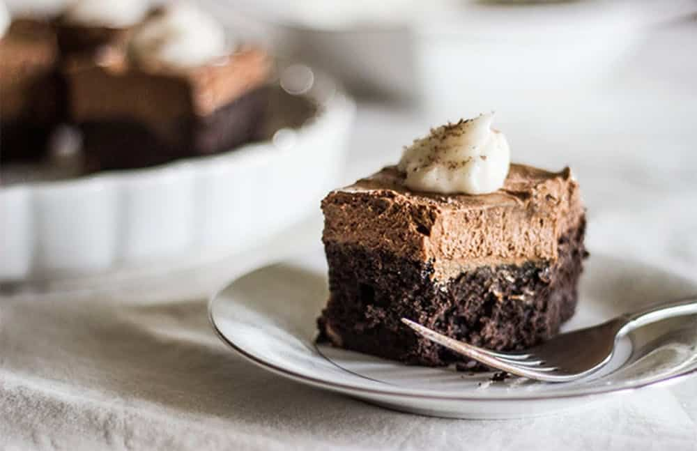 Sugar free french silk brownie