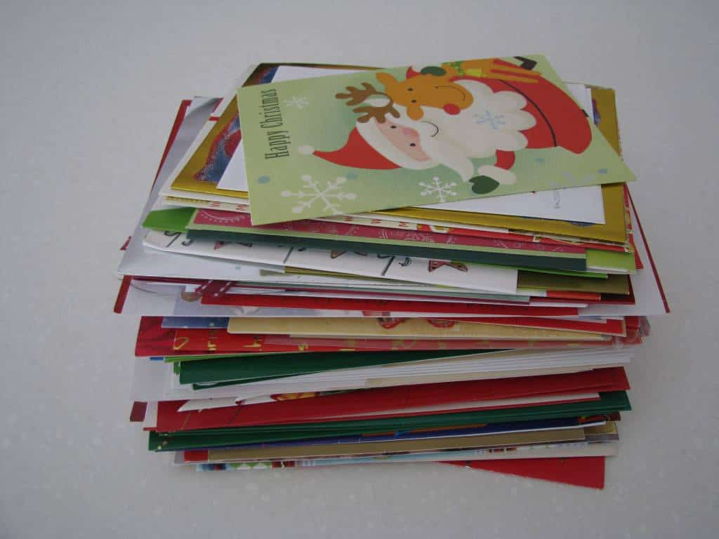 Throw away old greeting cards