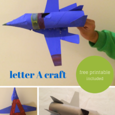 Airplane letter craft