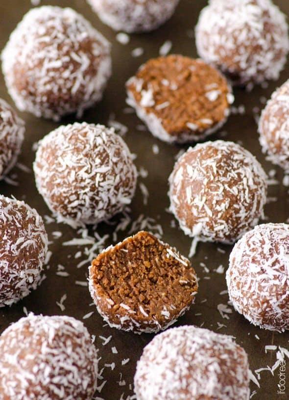 Almond joy protein balls