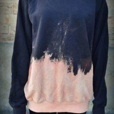 Bleached dipped sweatshirt