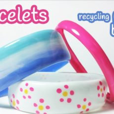 Braclets made from recycled plastic bottles