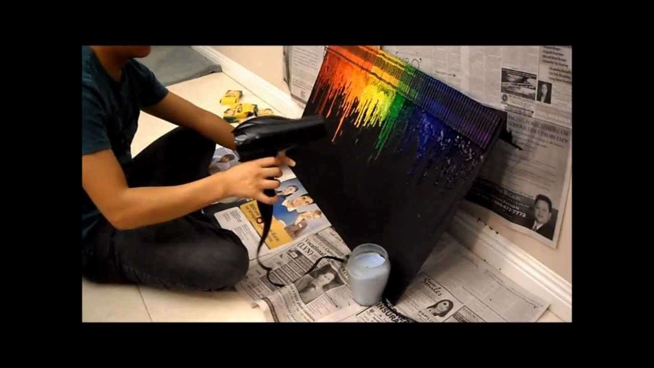 15 melted crayon crafts bright melted crayons on a black background solutioingenieria Image collections