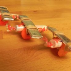 Candy and gum airplanes