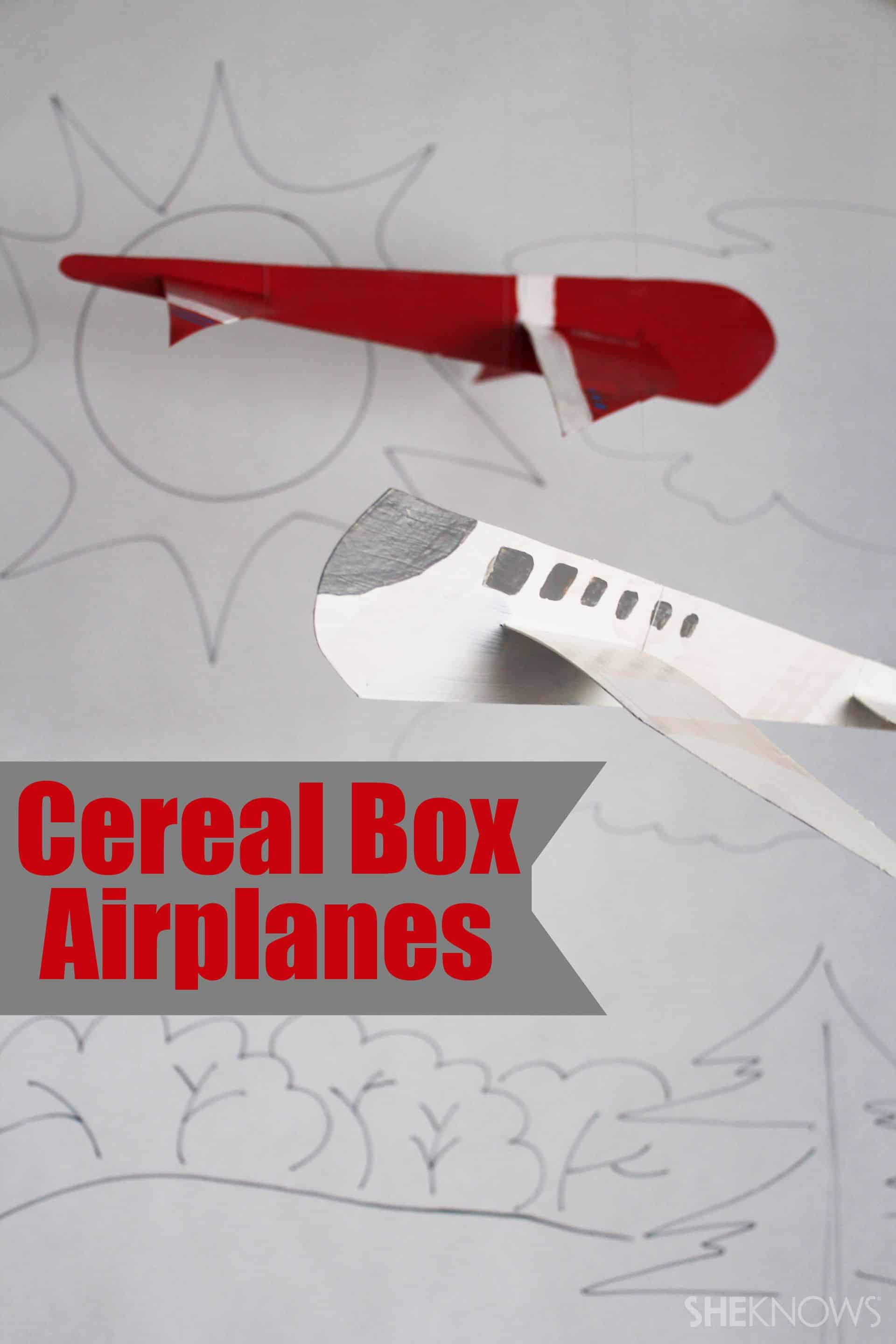 Cereal box airplanes