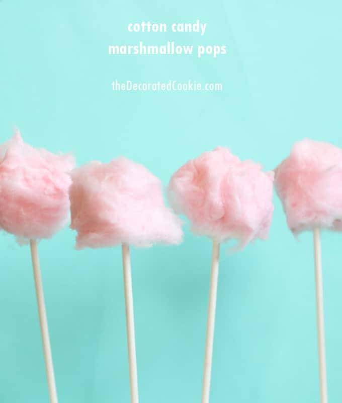 Cotton candy marshmallow pops