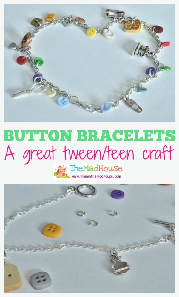 Cute button charm bracelets