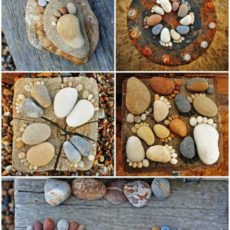 Cute stone footprints