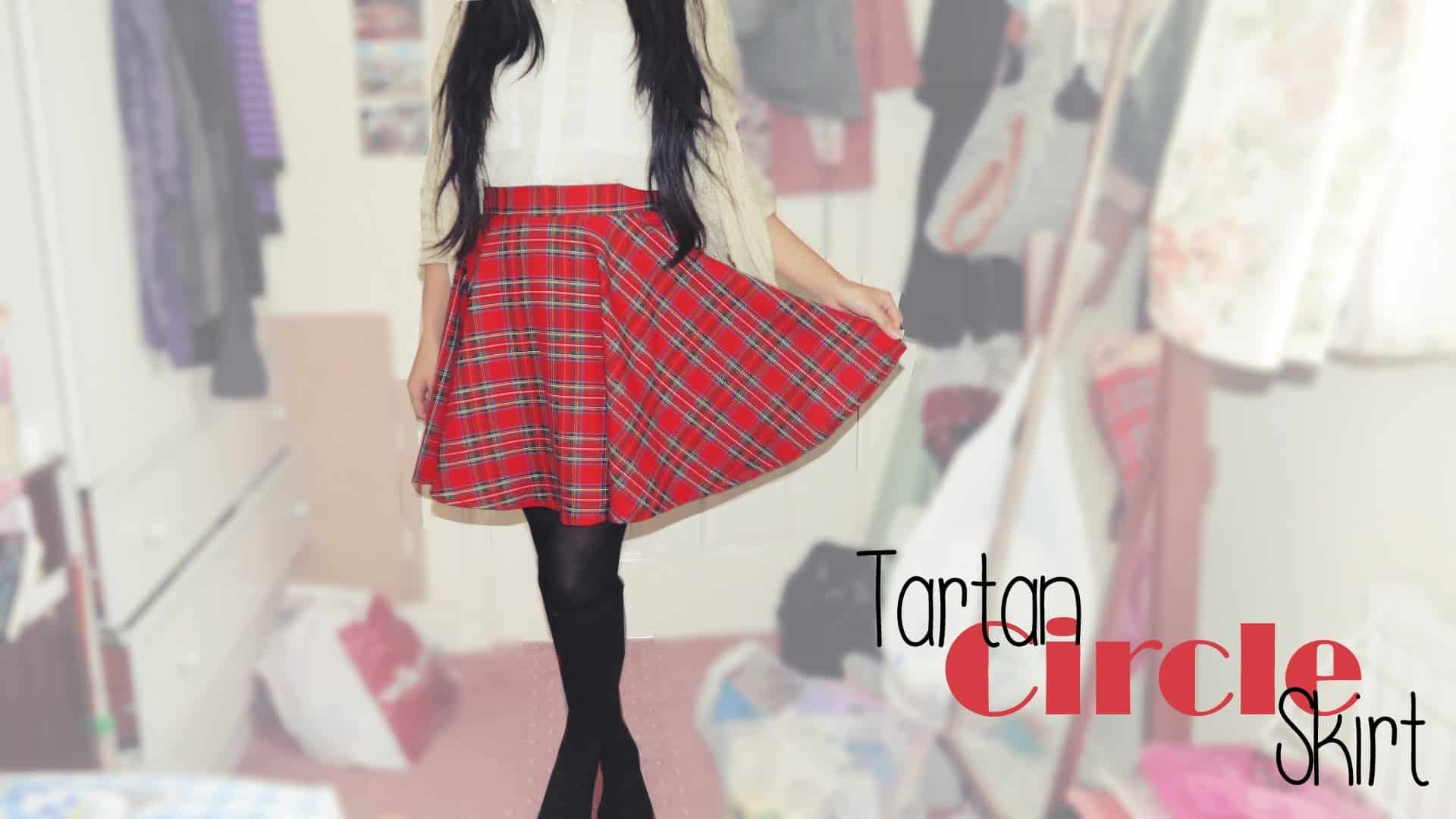 Cute tartan circle skirt