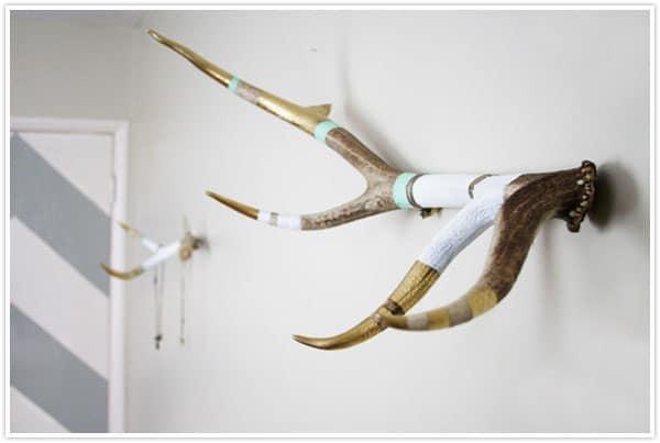 Diy antlers hat rack