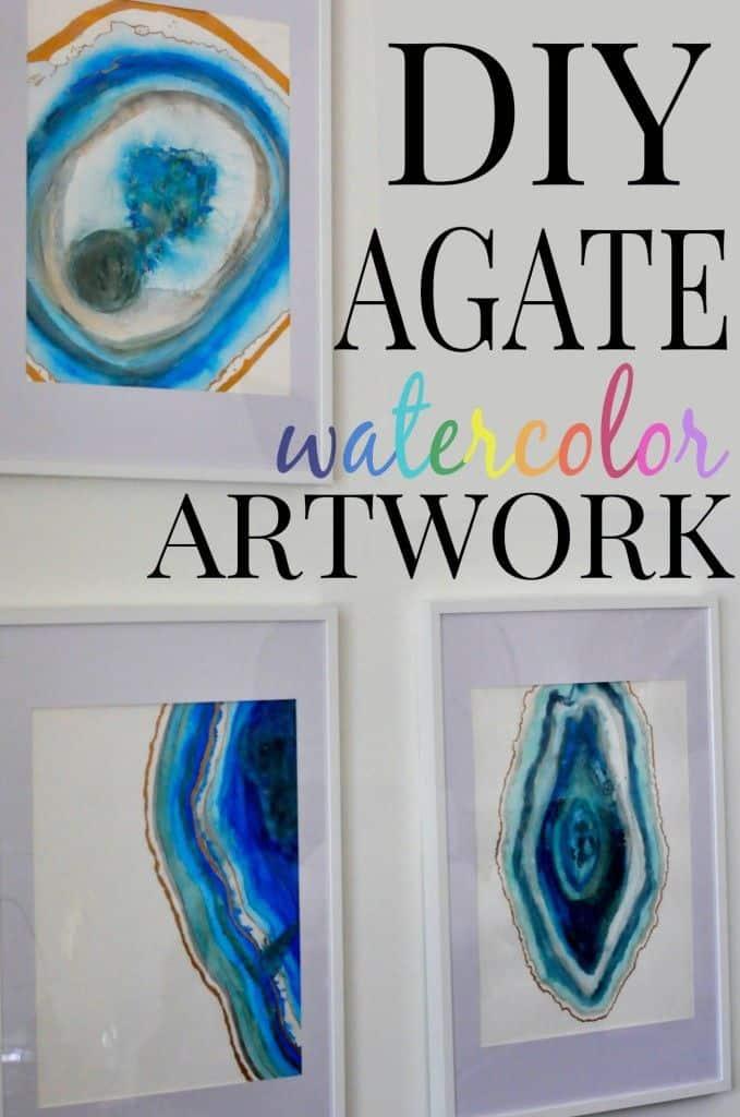 Diy agate watercolour artwork