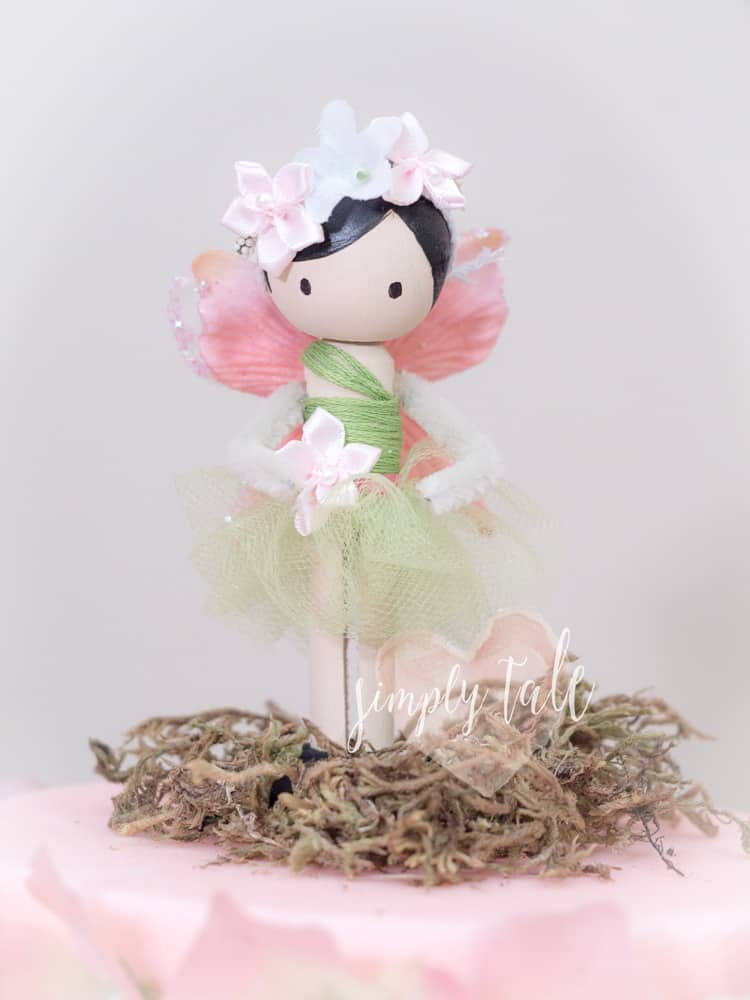Diy clothespin fairy dolls