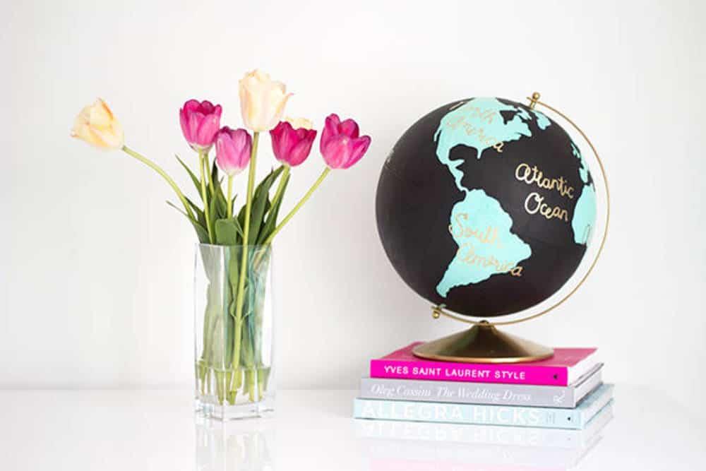 Diy custom wanderlust globe