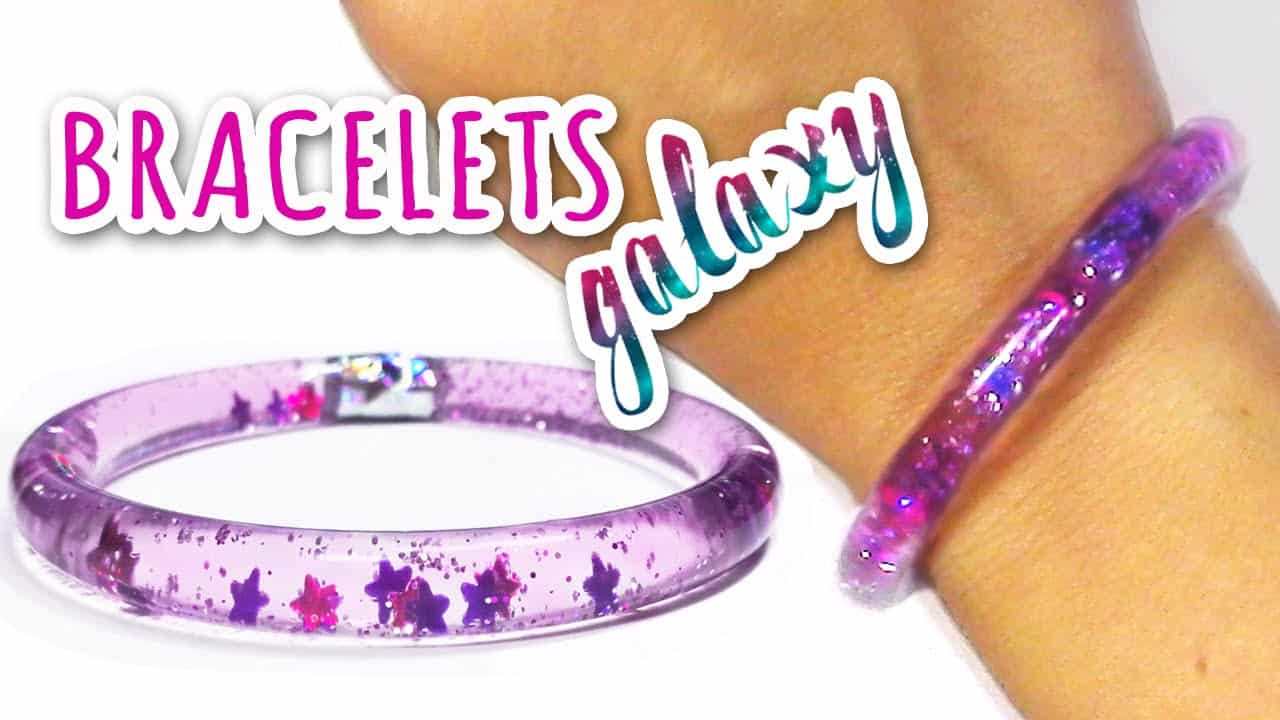 Diy galaxy water bracelets
