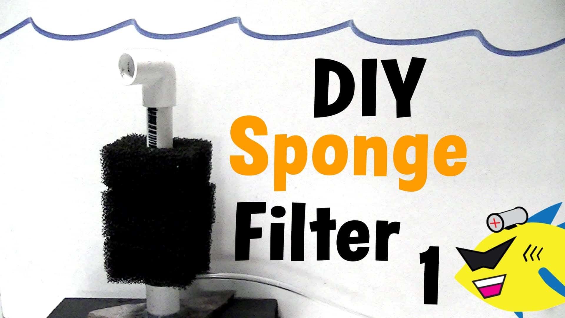 Diy sponge aquarium filter