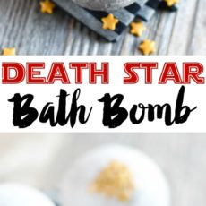 Deat star bath bomb