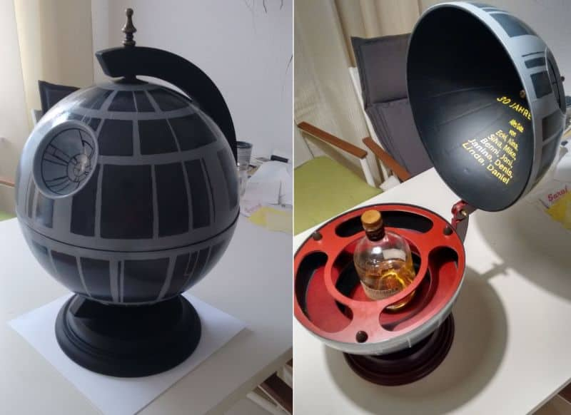 Death star globe bar