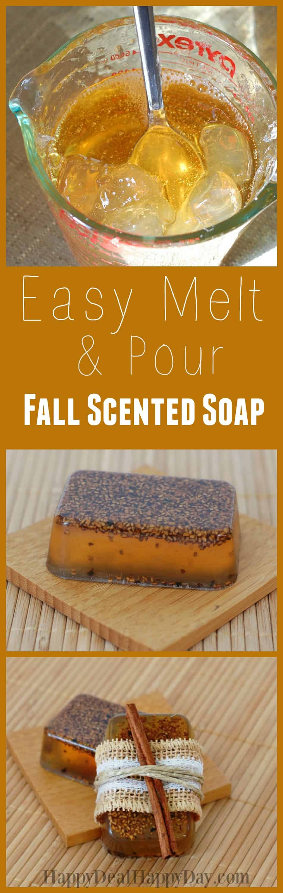Easy melt and pour falls cented soap