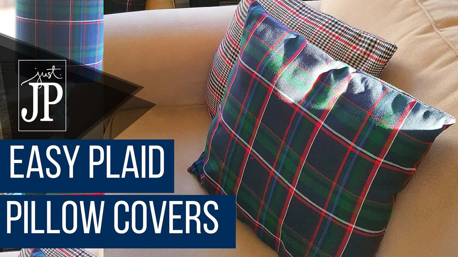 Easy plaid pillow covers